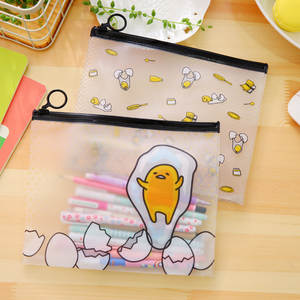 File-Bag Stationery Lazy-Egg Transparent Gudetama Cartoon Cute Kawaii Filing-Production