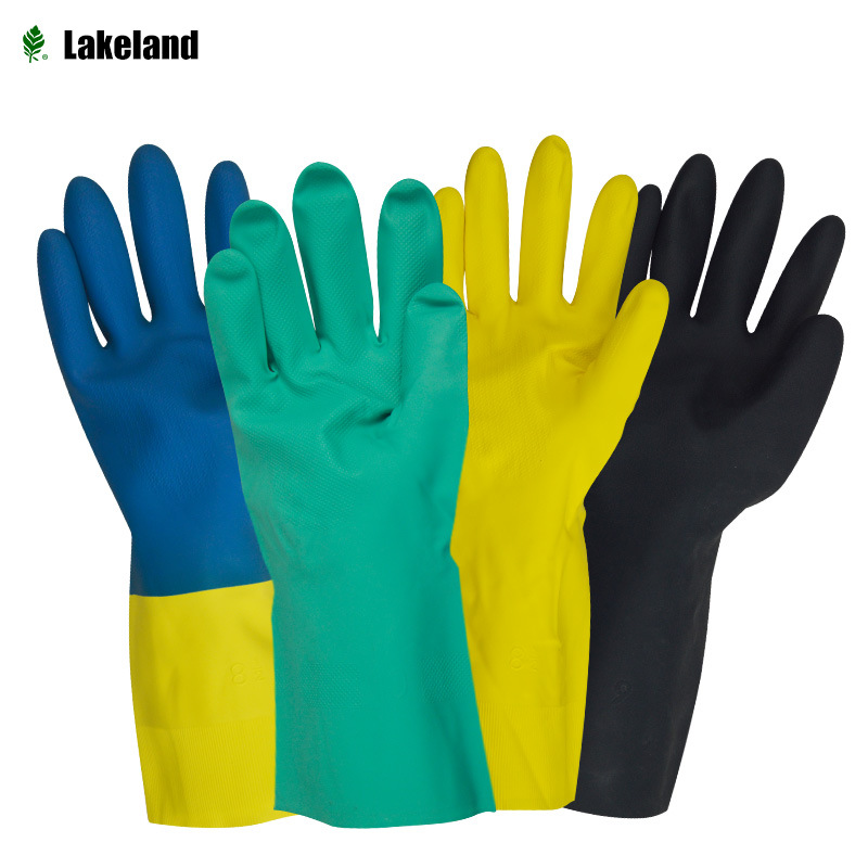 Lakeland Manufacturers Direct Selling Nitrile Antichemical Gloves Oil Resistant Nitrile Natural Rubber Petrol Chemical Protectiv