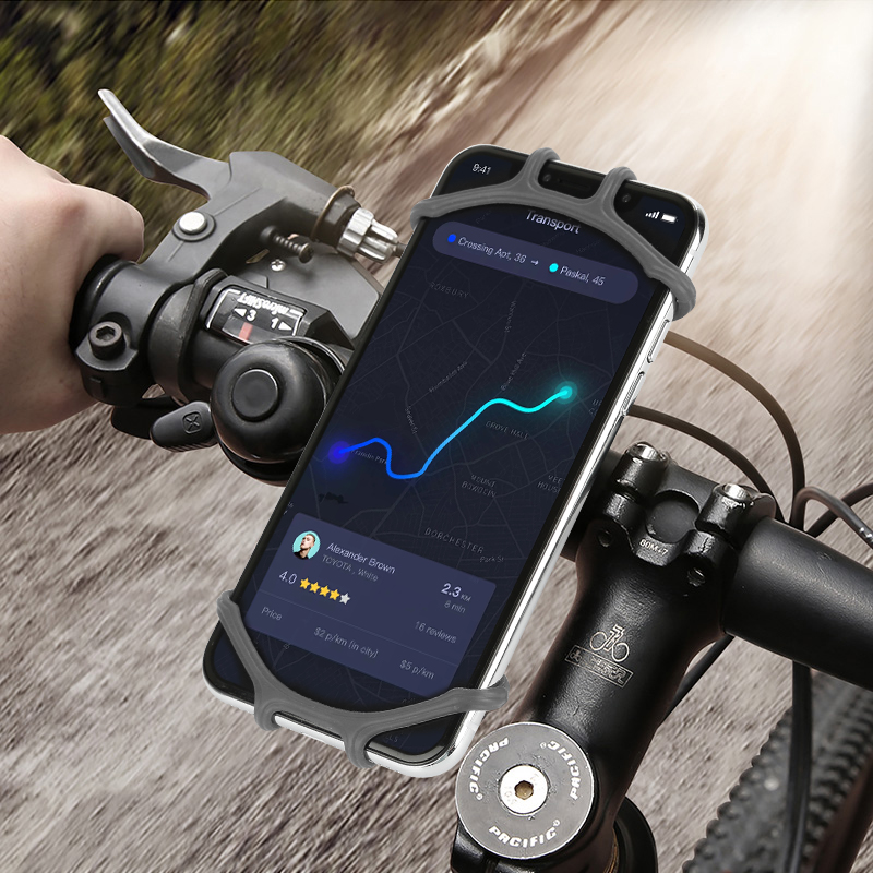 In Stock Bike Phone Holder Bicycle Motorcycle Handlebar Mount Cell Phone GPS Holder Clamp GPS Device Cell Phone Carrier Bracket image