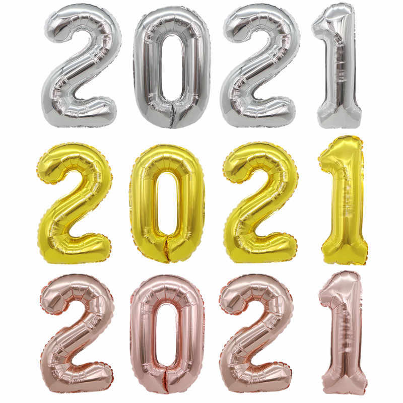 12 Happy New Year Foil Balloons Photo Booth Frame Props Balloons