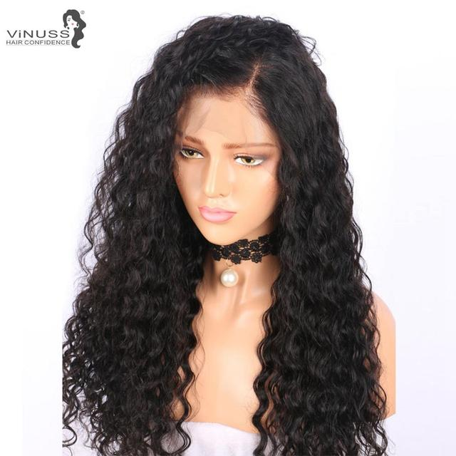 Vinuss Full Lace Human Hair Wigs water wave For Black Women Lace Front Wigs Brazilian Remy Pre Plucked Bleached Knots 3