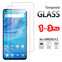 1-3 pezzi di vetro temperato completo per UMIDIGI F1 Play proteggi schermo in vetro temperato per UMIDIGI F2 pellicola protettiva