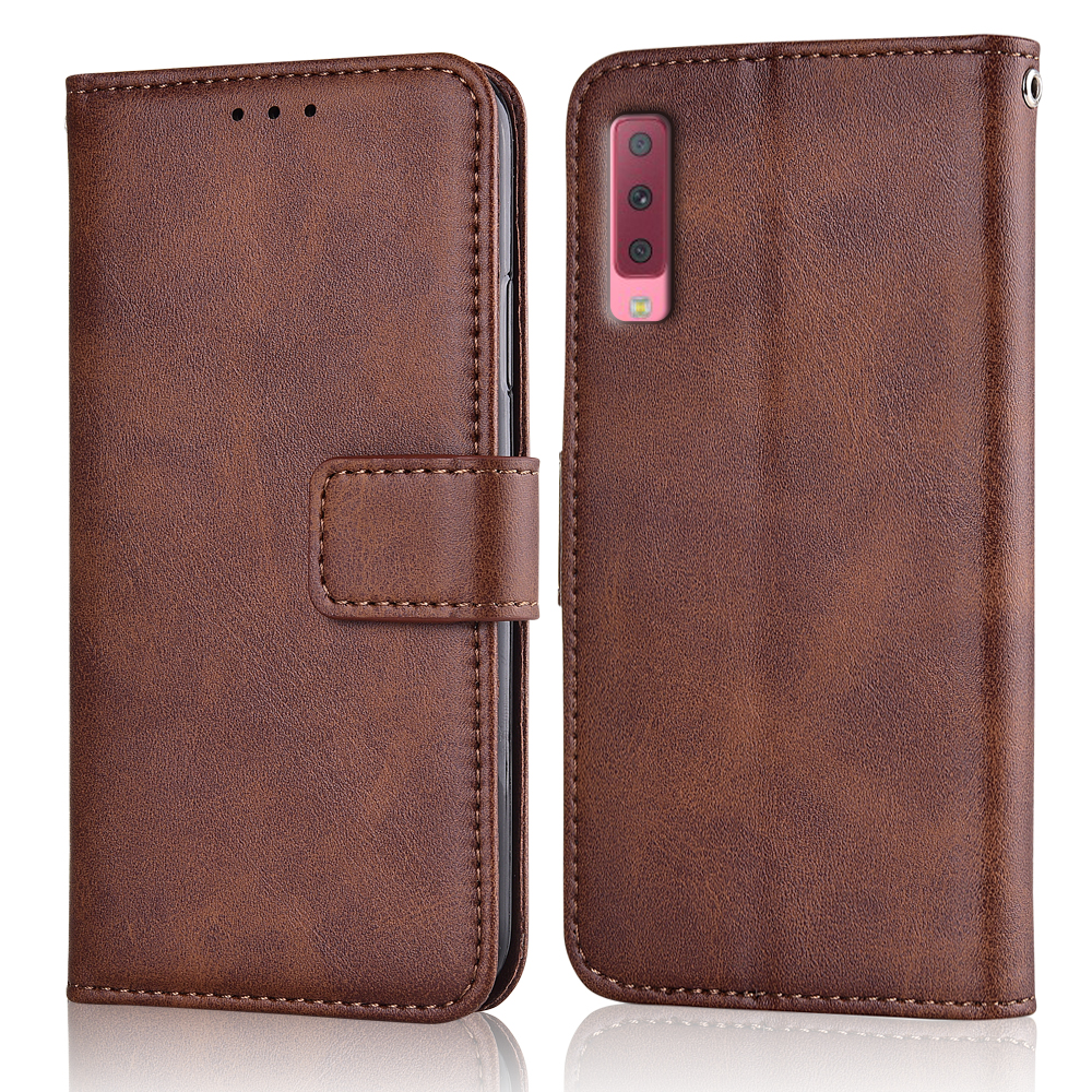 A7 2018 A750 Case Slim Leather Flip Cover for Samsung Galaxy A7 2018 A750F SM-A750F Case Wallet Magnetic case for Samsung <font><b>A72018</b></font> image