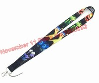 Lot 50pcs mixed cartoon Lanyard ID Badge Holders Mobile Neck Keychains For Party Gifts WQ 199