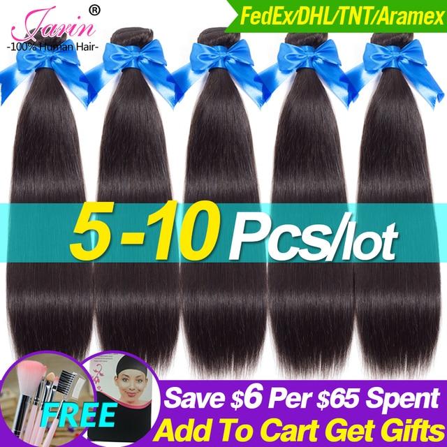 $ US $51.97 5-10 Bundles/lot Wholesale Price Brazilian Straight Hair Weave 100% Remy Human Hair Swiss Lace Hairline Natural Black DHL TNT