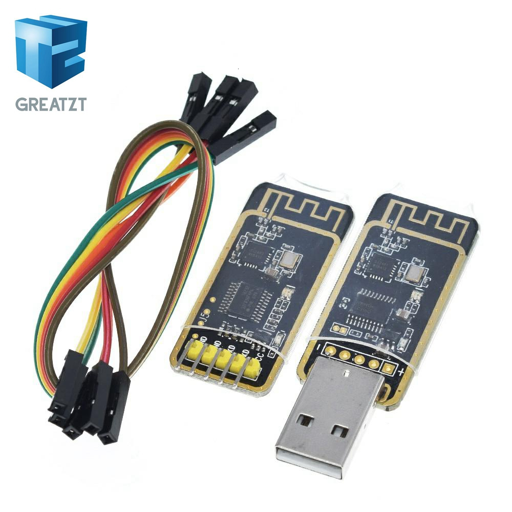 GREATZT NRF24L01 Wireless Wifi Transceiver + 2.4GHz <font><b>Antenna</b></font> Module <font><b>USB</b></font> to TTL converter UART module CH340G CH340 3.3V <font><b>5V</b></font> switch image
