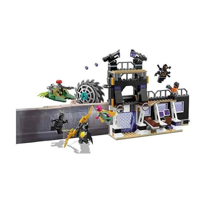 446pcs Super Heroes 76103 Legoinglys Marvel AVENGERS Corvus Glaive Thresher Attack Building Blocks Bricks Infinity War Toys