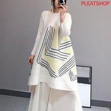 Женское плиссированное платье miyake весеннее А силуэта большого