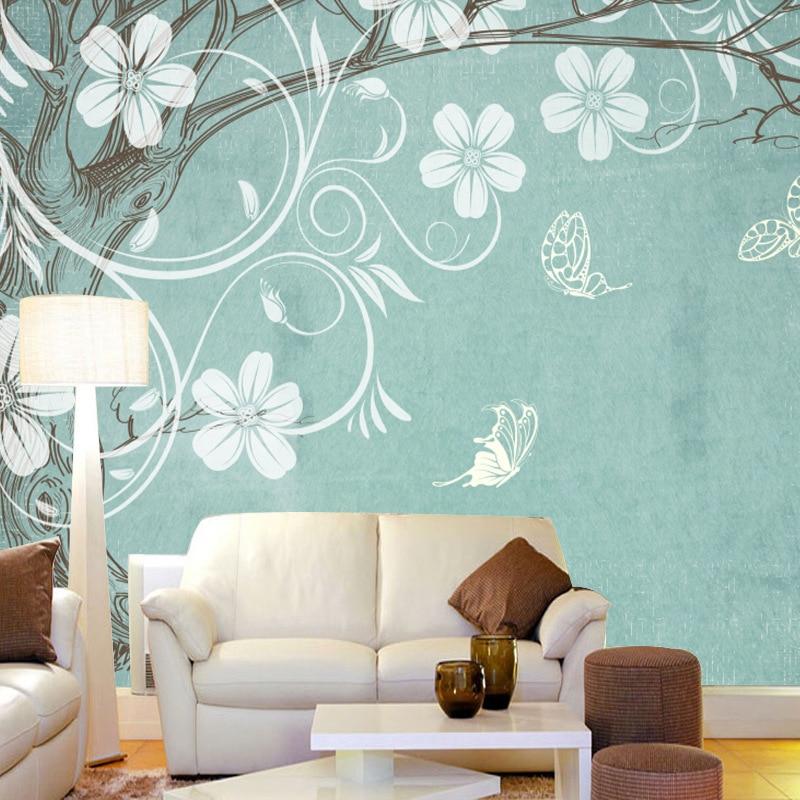 3D Hand-Painted Art Flower Wallpaper Mural Bedroom Sofa TV Backdrop Cloth Non-woven Wallpaper