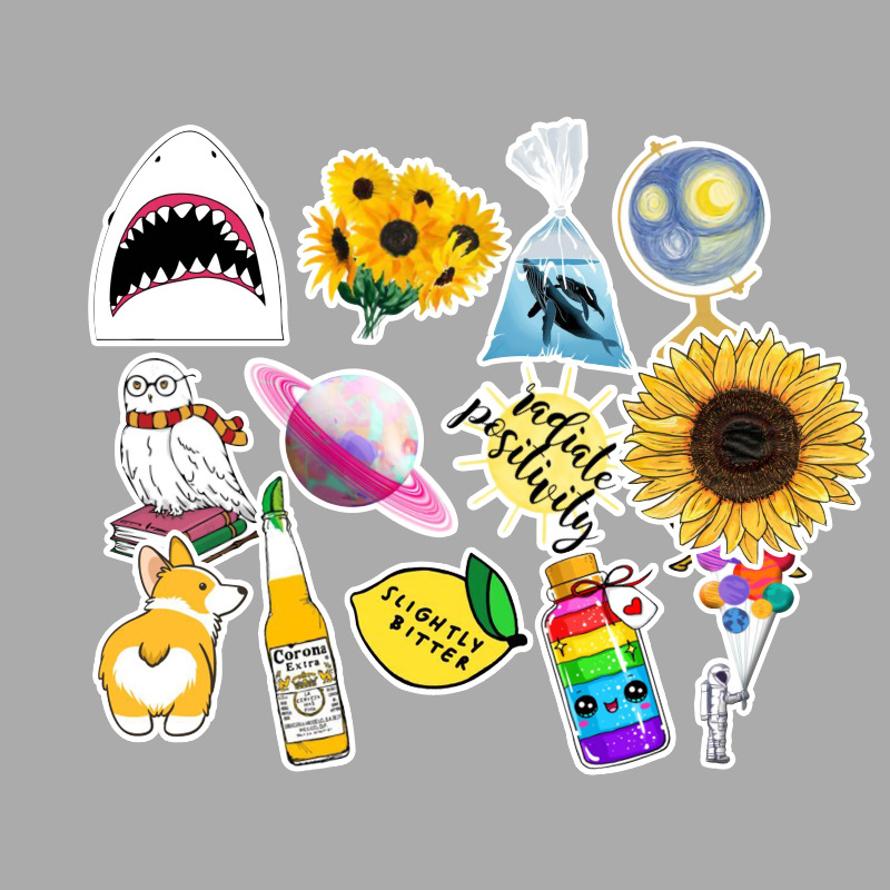53 Pcs pack Fresh Summer Graffiti Stickers for Motor Car Suitcase Cool Laptop Stickers Skateboard DIY Waterproof Stickers in Stickers from Toys Hobbies