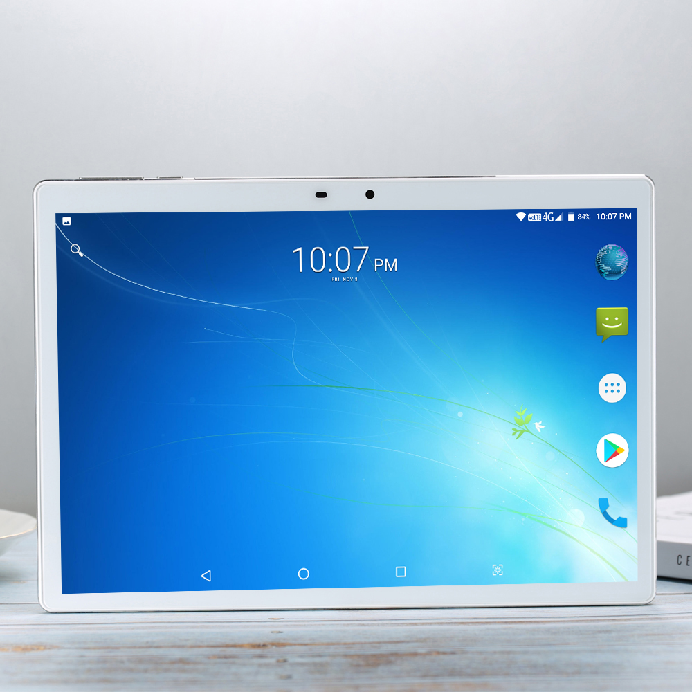 2020 256G Kids Tablet 10 Android 7.0 10 Core 256GB ROM Tablet PC 10.1 Inch Sim Google GPS Bluetooth Mobile Phone 4G LTE 13.0MP