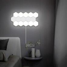 נורדי אמנות LED מנורת קיר לופט בריטי Creative חלת דבש מודולרי הרכבה הליוס מגע מנורת Quantum מנורות מגנטי קיר אורות