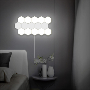 Image 1 - Nordic Art LED Wall Lamp Loft British Creative Honeycomb Modular Assembly Helios Touch Lamp Quantum Lamps Magnetic Wall Lights