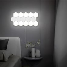 Nordic Kunst LED Wand Lampe Loft Britischen Kreative Waben Modulare Montage Helios Touch Lampe Quantum Lampen Magnetische Wand Lichter