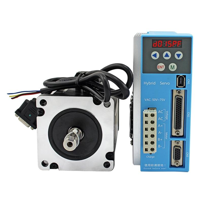 Kit servo numérique haute vitesse 86 Nema34 10Nm 7.5A moteur pas à pas en boucle fermée match servomoteur hybride 2 phases LCDA808H + LC86H2128