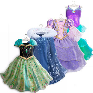 Girls Princess Elza Anna Jasmine Snow White Aurora Belle Moana Sofia Party Costume Kid Halloween Jessie Forky Bo Peep Tutu Dress(China)