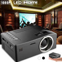 UC18 1080P Mini Projektor USB HDMI AV video tragbare projektor heimkino film projektor Projektor für Home Cinema