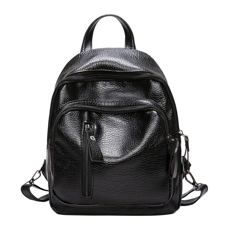Women's Backpack PU Leather Travel Shoulder Bag Shoulder Bag Girl Multifunctional Small School Backpack For Women # 25