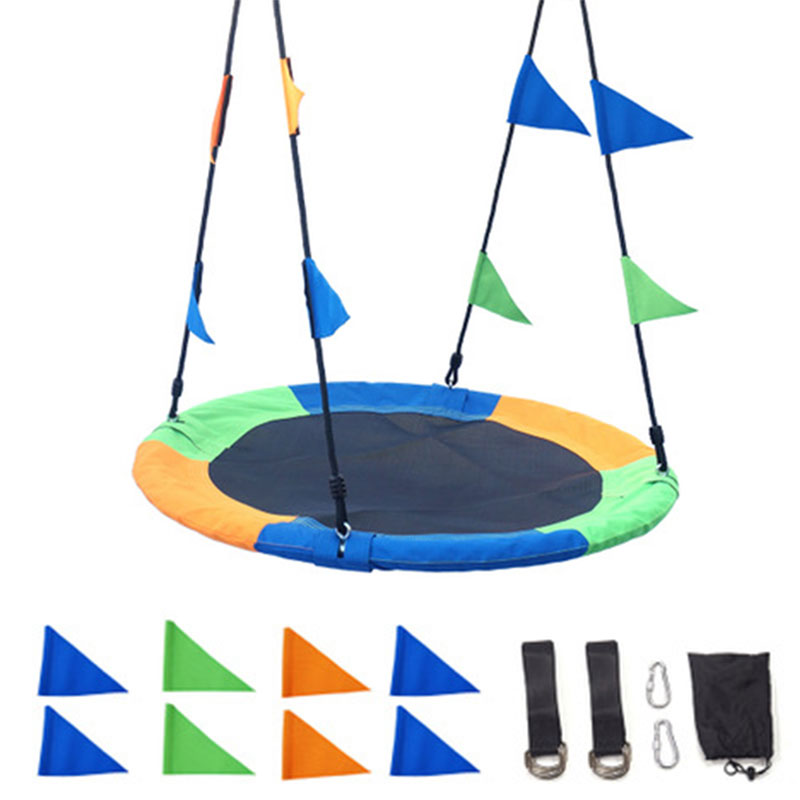 Popular Fashion 100 CM 900D Oxford Cloth Child Swing Outdoor Round Rope Tree Swing Kids Backyard Play Equipment Children Toys
