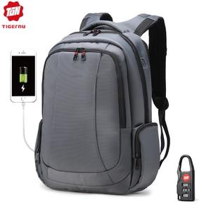 Image 1 - Tigernu防水ナイロン抗盗難 15 インチノートパソコンのバックパック女性のバックパック女性のノートブックバッグmochilaスクールバッグ旅行バッグ
