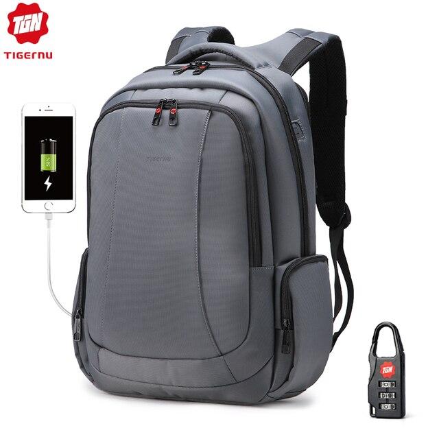 Tigernu防水ナイロン抗盗難 15 インチノートパソコンのバックパック女性のバックパック女性のノートブックバッグmochilaスクールバッグ旅行バッグ