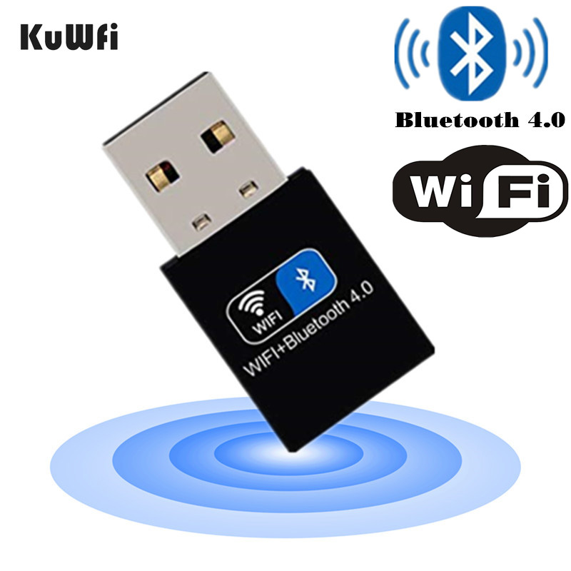 KuWFi Network Card With Bluetooth 4.0,2.4GHz 150Mbps Wireless WiFi Card For WINXP/7/8/10,Recive Wifi Or Bluetooth Speaker Audio