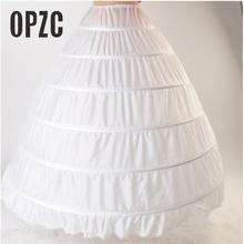 Enaguas con borde de encaje de 6 aros para vestido de novia, ropa interior de 110cm de diámetro, accesorios de crinolina de boda
