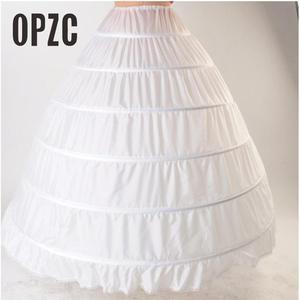 Image 1 - Lace Edge 6 Hoop Petticoat Underskirt For Ball Gown Wedding Dress 110cm Diameter Underwear Crinoline Wedding Accessories