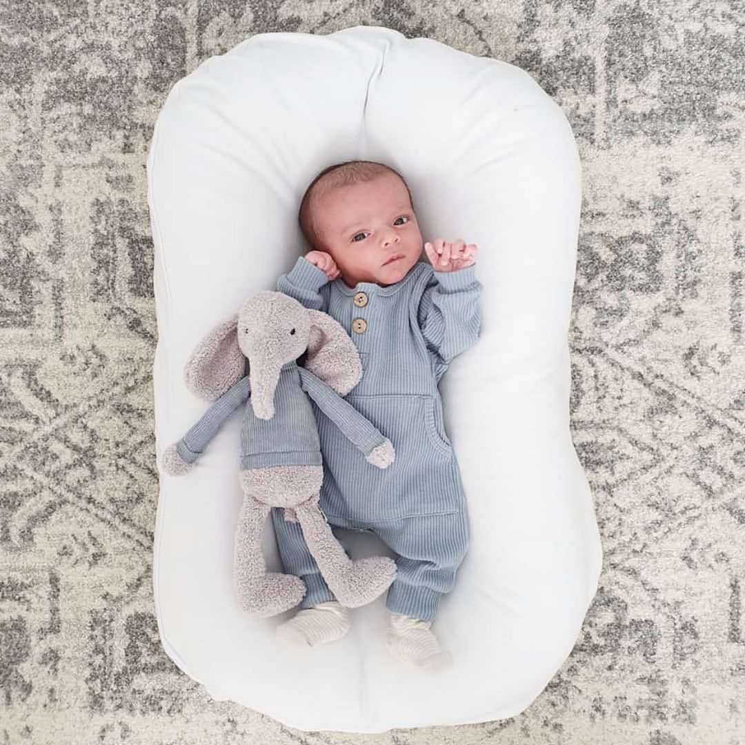 75*45cm Baby Portable Bed Crib Baby Nest Newborn Lounger Infant Cotton Cradle Newborn Bumper Bed Travel Babynest