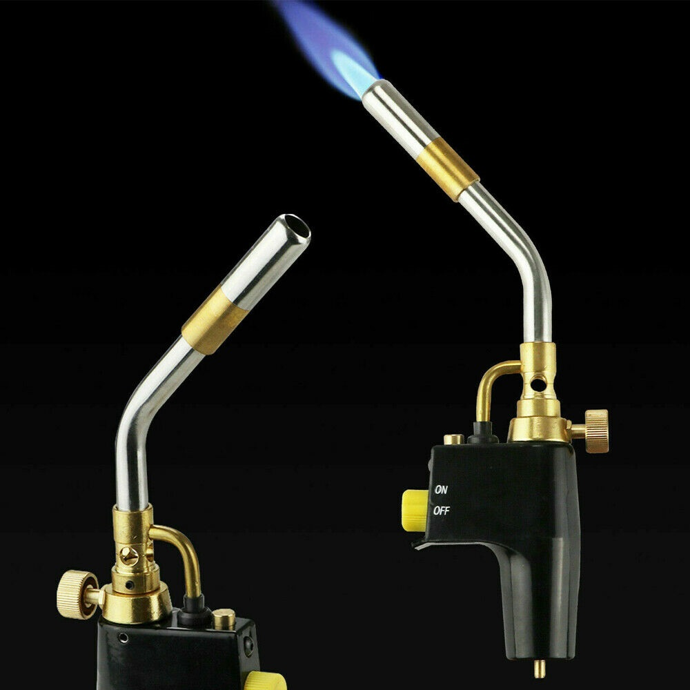 Tools : Gas Soldering Plumbing Blow Torch Soldering Propane Instant Professional High Heat Welding Plumbing Torches Brazing Map Burner