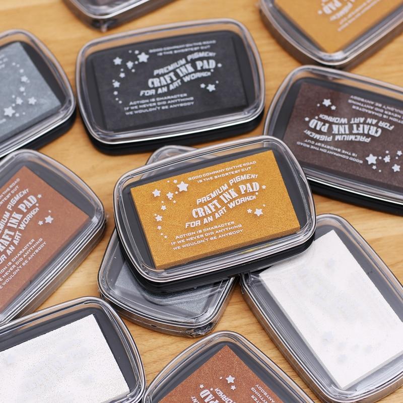 1pc Big Size Metallic Creative Colourful Inkpad Scrapbooking Stamp Making Supplies Fingerprint Stencil Card Making DIY Crafts