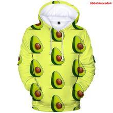 Толстовка с капюшоном для мужчин и женщин Свитшот оверсайз авокадо
