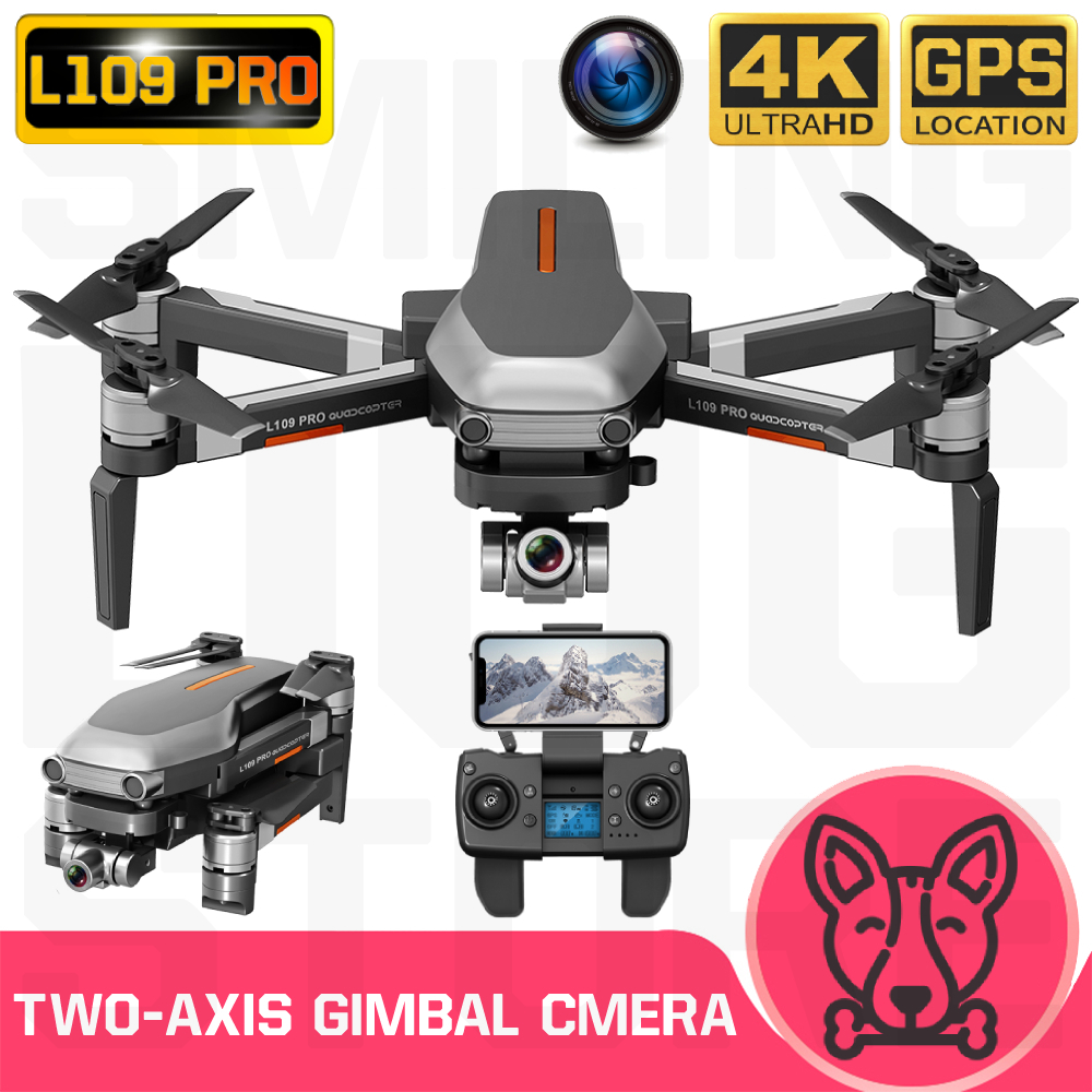 L109 Pro Drone GPS 4K HD Two-Axis Anti-Shake Stable Gimbal Camera 5G WIFI FPV Brushless Motor 1200m Long Distance RC Quadcopter