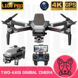 Image 1 - L109 pro zangão 4k gps hd cardan câmera 5g wifi fpv brushless cartão sd do motor 1200m drones de longa distância profissional rc quadcopter