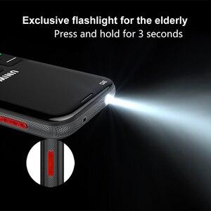 """Image 3 - Wcdma 3G Russische Toetsenbord Oude Man Mobiele Telefoon Sos Knop 1400Mah Batterij 2.31 """"Cellphone Zaklamp Torch Mobiele telefoon Ouderen"""