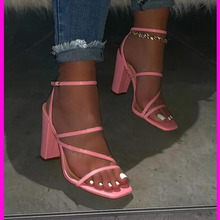 Women Sandals Transparent Sandals Ladies High Heel Slippers