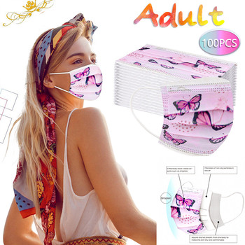 100pcs Adult Mask Disposable Face Mask 3ply Non-woven Ear Loop Face Mask Fashion Mouth Caps Disposable mascarillas 50pcs 100pcs disposable mask mouth mask non woven three layer mouth mask elastic ear loop disposable dust filter safety mask