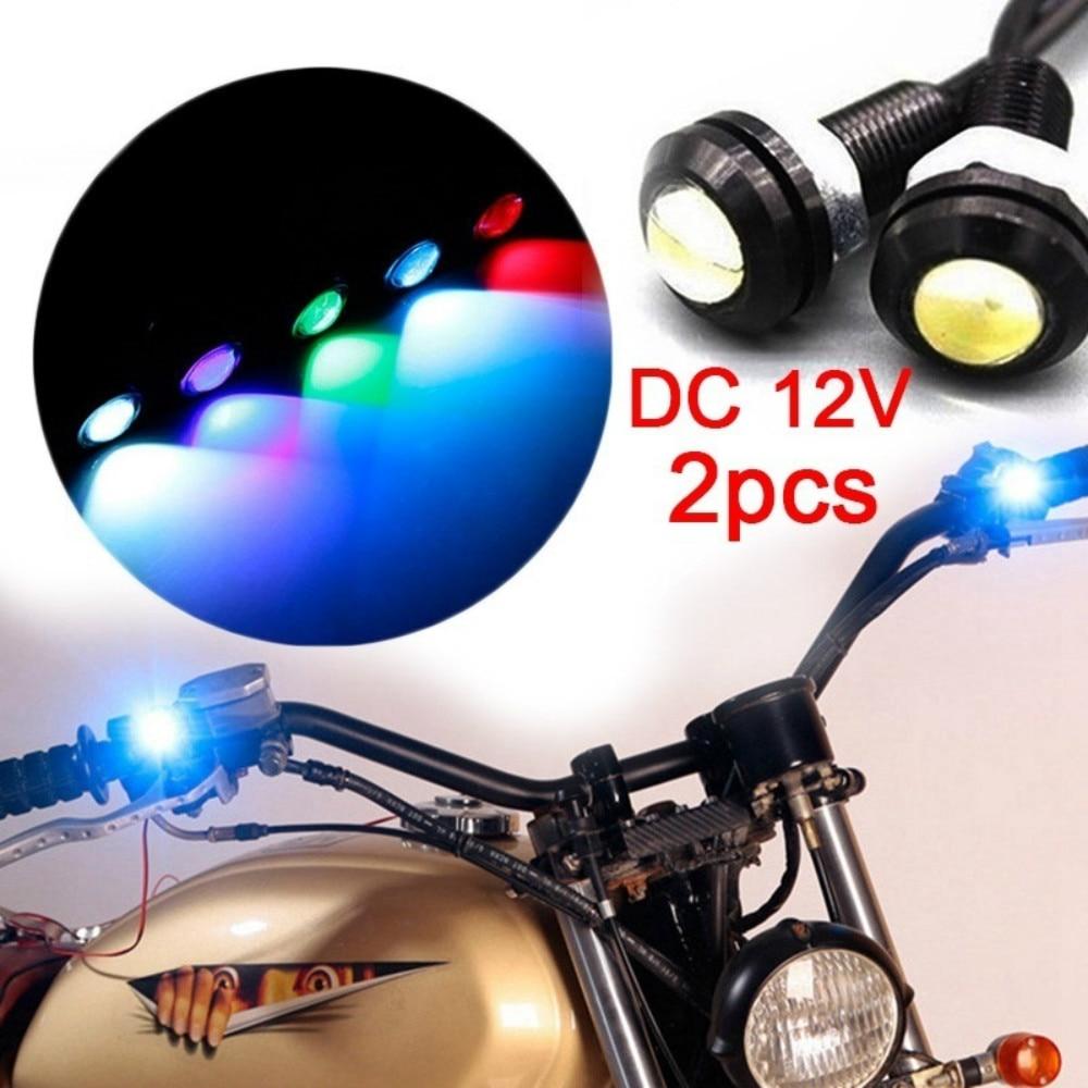 Motorcycle Rearview Mirror Decoration LED Lamp Motorcycle Eagle Eye Warm Strobe Flash Multicolor Led Light Lamp 2pcs