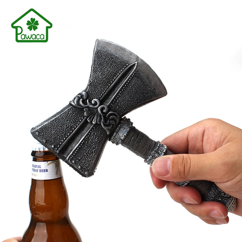 Beer Bottle Openers Simulation Handle Axe Shape Show Off Bar Personalized Bottle Opener For Party Dinner Viking Fans Best Gifts