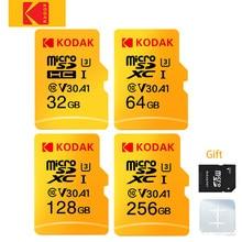 KODAK – carte mémoire Micro SD originale, 32 go/64 go/256 go/128 go, TF, V30, U3, 100 mo/s, adaptateur SD gratuit
