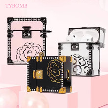 For Apple Airpods Luxury Brand Jewelry Box Protective Cover Bluetooth Earphone Case Fashion Bling diamond Accessorie Headset Bag(China)