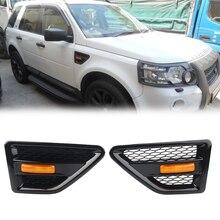Car Front Grille Side Vent Mesh Grill For Land Rover Freelander2 LR2 2006 2007 2008 2009 2010 2011 2012 2013 2014 2015 2016