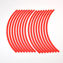 16 tiras Multicolor de 10 pulgadas, pegatinas reflectantes rojas para llanta de coche y motocicleta, accesorio de pegatinas para bicicleta y motocicleta