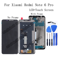 6.26 Original display For Xiaomi Redmi Note 6 Pro LCD Display+touch screen digitizer For Xiaomi Redmi Note 6 Pro LCD Repair kit srhe for xiaomi redmi note 6 case coverfor redmi note 6 pro vintage cloth fabric soft silicone full back cover for redmi note 6