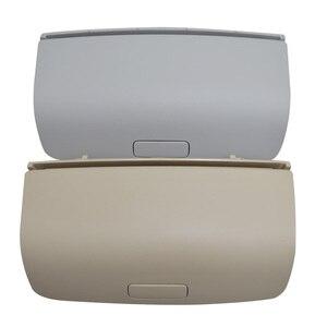 Para VW Tiguan Golf MK5 MK6 Passat B7 CC alfombrillas para Skoda Superb Fabia negro gris Beige gafas de sol caja de gafas de sol