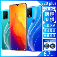 S20plus New Style Smartphone 6.7 Inch Water Droplet Big Screen Fingerprint Android S11 Mobile Phone