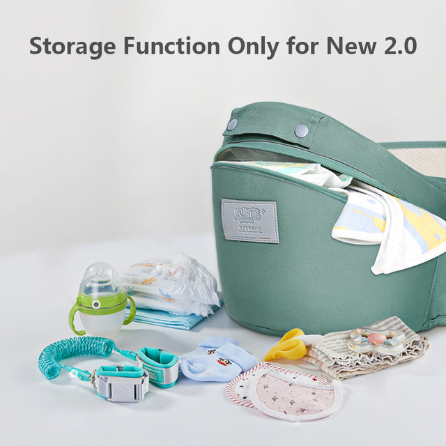 MMloveBB Ergonomic Baby Carrier Infant Baby Hipseat Waist Carrier Front Facing Ergonomic Kangaroo Sling for Baby Travel 0-36M   Happy Baby Mama