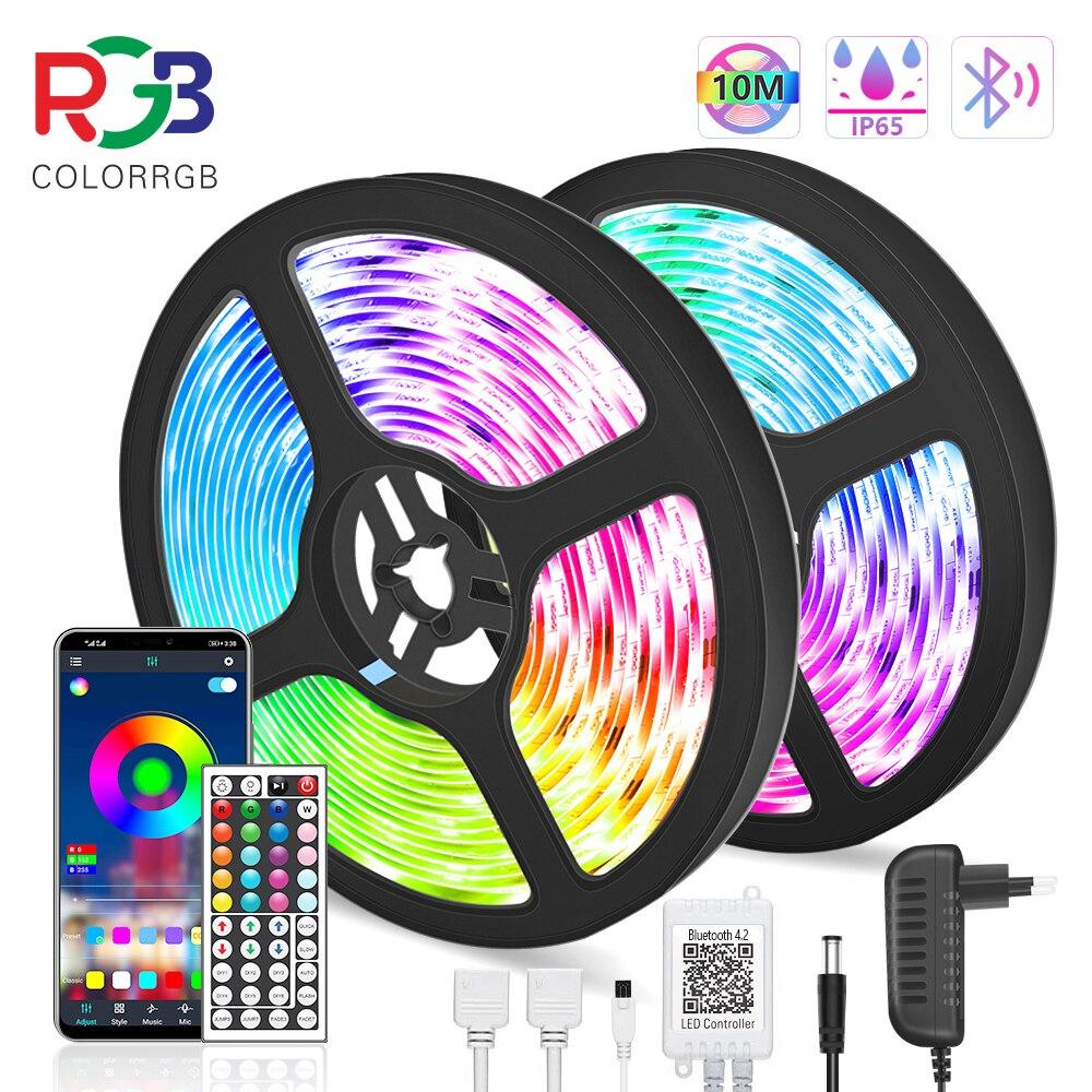 waterproof 5M 10M LED Strip Light RGB 5050 Flexible Ribbon fita led light strip RGB Tape Diode DC 12V+ Remote Control