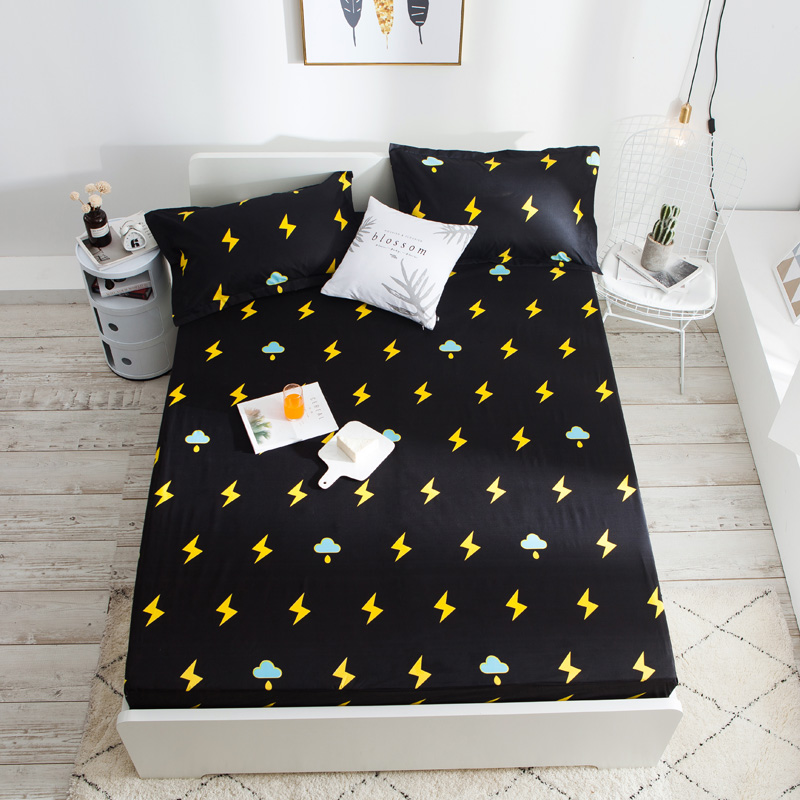Waterproof And Breathable Fabric Printed Bedspread For Children Wetting Elderly Care Bed Cover Protector Pillowcase Household