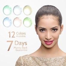 2 шт./пара Hidrocor глаз Цвет объектив Цветной контактные линзы+ кейс для контактных линз ежегодно естественный макияж глаз мягкие контактные линзы